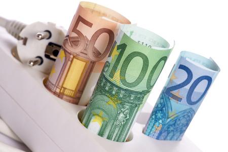 Socket with euro banknotes Stock Photo - 22778777