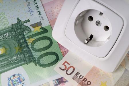 Socket and euro banknotes Stock Photo - 23108208