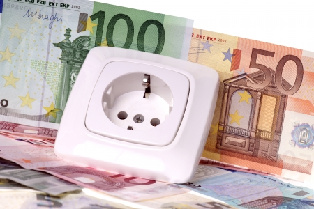 Socket and euro banknotes Stock Photo - 23108213