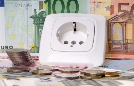 Socket and euro banknotes Stock Photo - 23108196