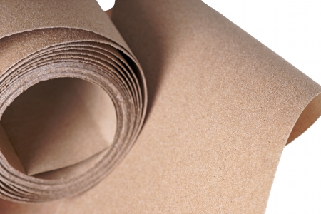 graining: Sanding paper isolated over a white background Stock Photo