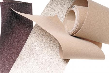 graining: different types of sandpaper