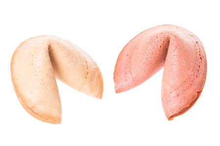 Fortune cookies isolated over a white background photo