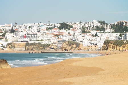 Beach in Portugal in the Algarve photo
