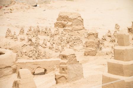 sandcastles: Sand castles on the beach