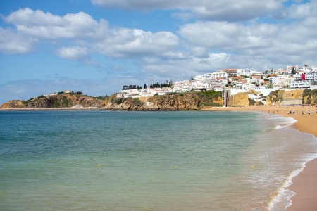 Atlantic ocean in Portugal in the Algarve photo