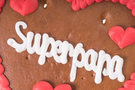 super dad: Gingerbread Heart with the german words Super Dad