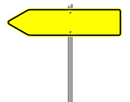 exempted: empty traffic sign isolated over a white background Stock Photo