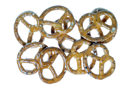 pretzels isolated over a white background Stock Photo - 26076071