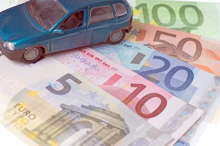 Model Cars and euro banknotes photo