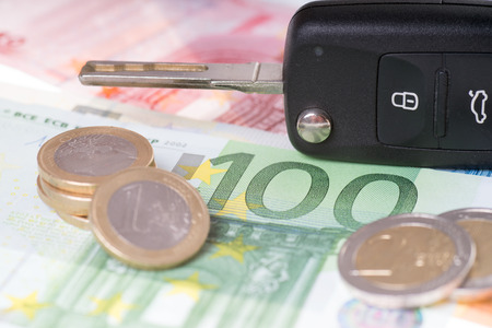editions: car key and euro money