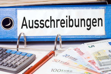 cost estimate: File folder with the german words cost estimate