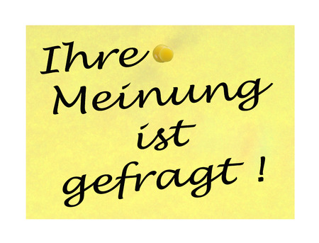 Notepaper with the german words Your opinion is appreciated photo