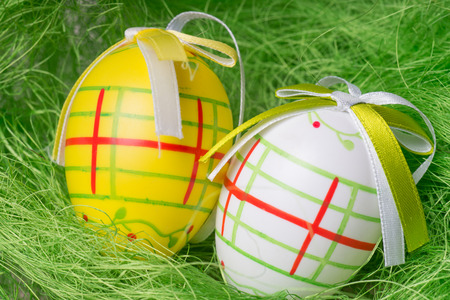 ecclesiastical: Easter eggs in a easter nest