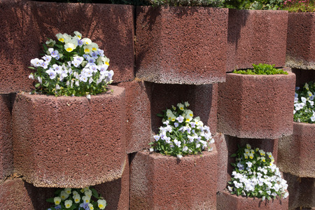 demarcation: Flower tubs wall as a demarcation