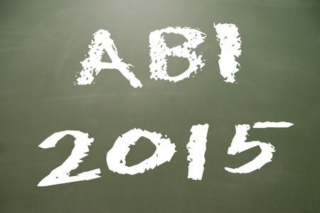abi: chalkboard with the german word ABI 2015 Stock Photo