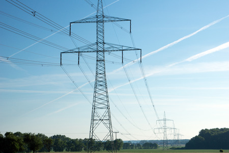 power suppliers: Power pole and blue sky