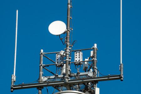 extensible: M�stil de radio y el cielo azul Foto de archivo