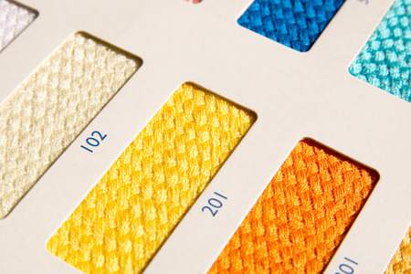 ral: Fabric patterns - color card Stock Photo