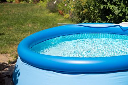 Swimming pool in a garden Foto de archivo