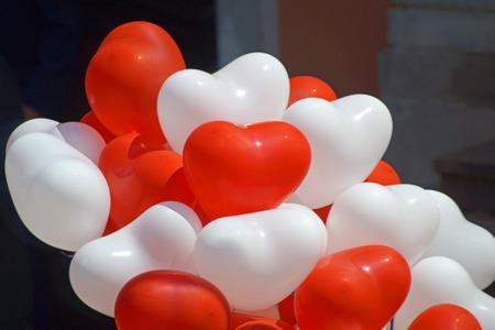 silhouette coeur: ballons en forme de c?ur