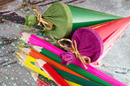 Sugar bags and crayons for Back to School photo