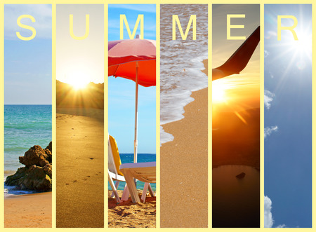 Collage with different impressions of summer and holidays photo