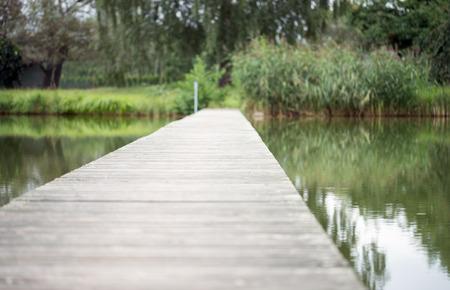 bridge over water: Small bridge over water