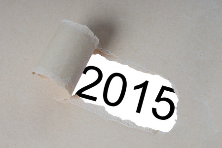 strikingly: torn open piece of paper with the year 2015