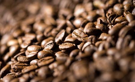 grano de cafe: Los granos de café de fondo Foto de archivo