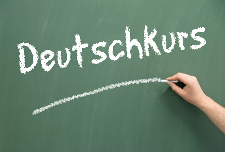 naturalization: Chalkboard with the german words German Course