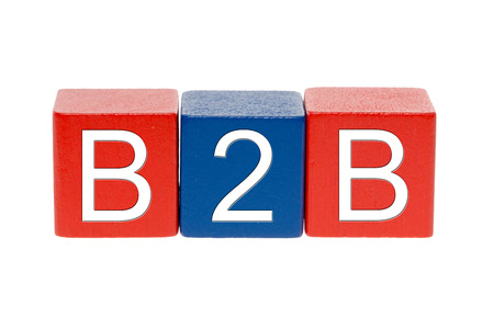 exempted: colorful wooden blocks with B2B
