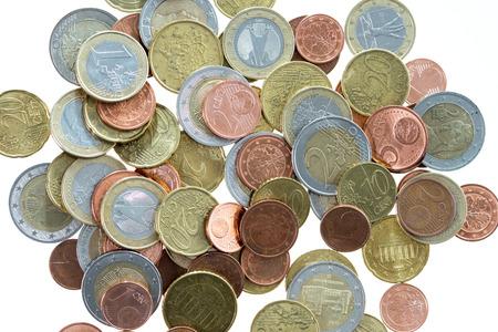 many euro coins photo