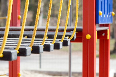 playground equipment: Climbing scaffold in a playground