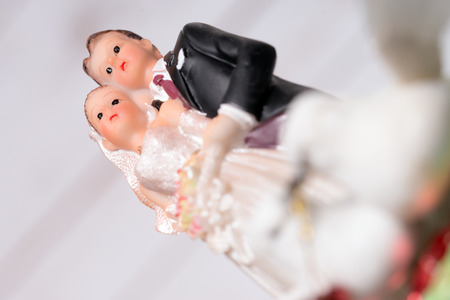 love proof: Model of a wedding couple