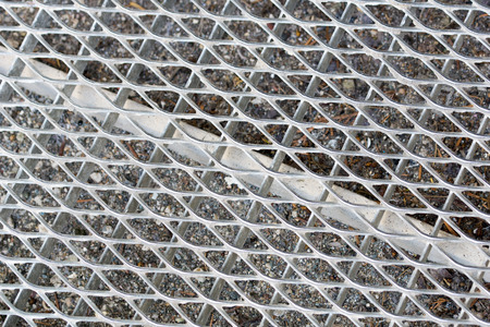 metal grid: Metal grid of a doormat