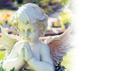 angel cemetery: Angel on a cemetery Stock Photo