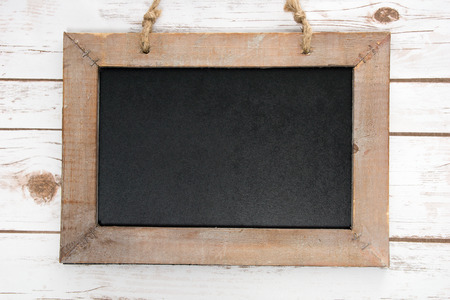 cordial: empty blackboard with wooden frame