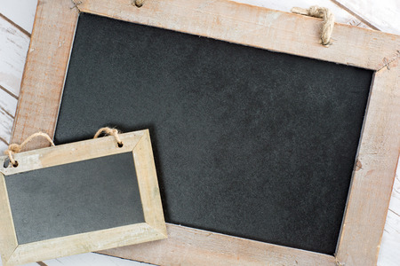 cordial: two empty blackboard with wooden frame