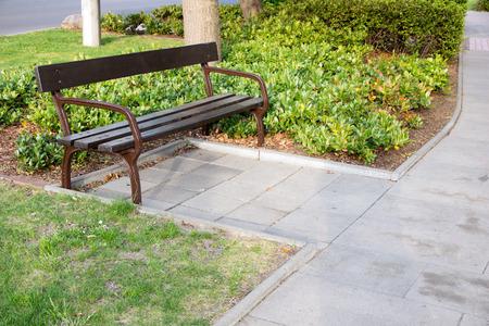 garden bench: Garden bench in a park