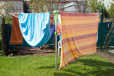 umyty: washed clothes on a clothesline
