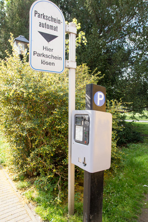 parking ticket: Parking ticket machine in a city Stock Photo