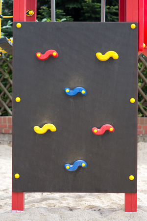 recreational climbing: Climbing wall on a playground