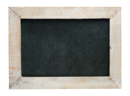 cordial: empty blackboard with wooden frame isolated over a white background Stock Photo