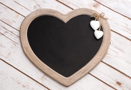 silhouette coeur: Panneau en bois en forme de coeur