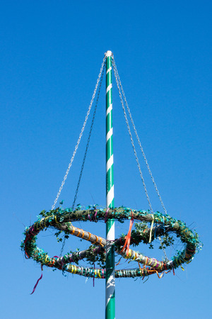 maypole: maypole over a blue sky