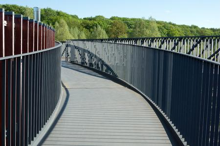 railing: Metal railing constriction Stock Photo