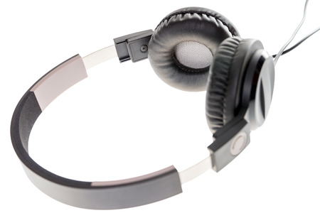 listeners: Headphone for listening to music Stock Photo