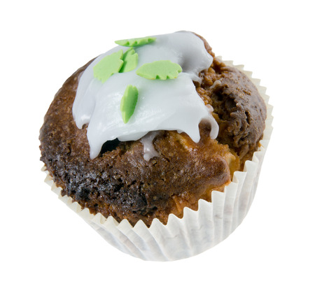 exempted: delicious muffin isolated over a white background