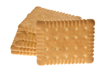 Biscuits isolated on white background Banque d'images
